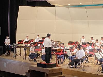 吹奏楽部のリハーサルの様子です